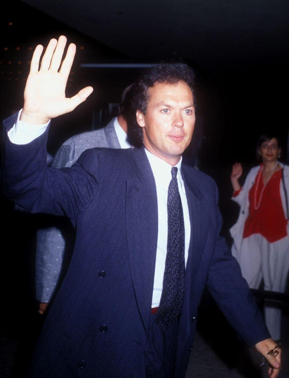 <p>Before he was Birdman, Keaton was Batman. Here he is at the 1989 <em>Batman </em>premier. </p>