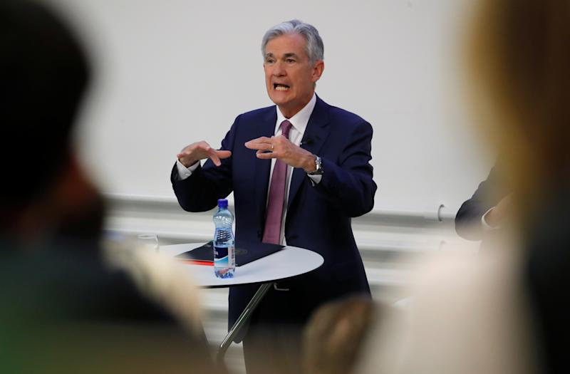 "U.S. Federal Reserve Chairman Jerome Powell speaks during the ""The Economic Outlook and Monetary Policy"" panel discussion hosted by the Swiss Institute of International Studies at the University of Zurich in Zurich, Switzerland September 6, 2019. REUTERS/Arnd Wiegmann"