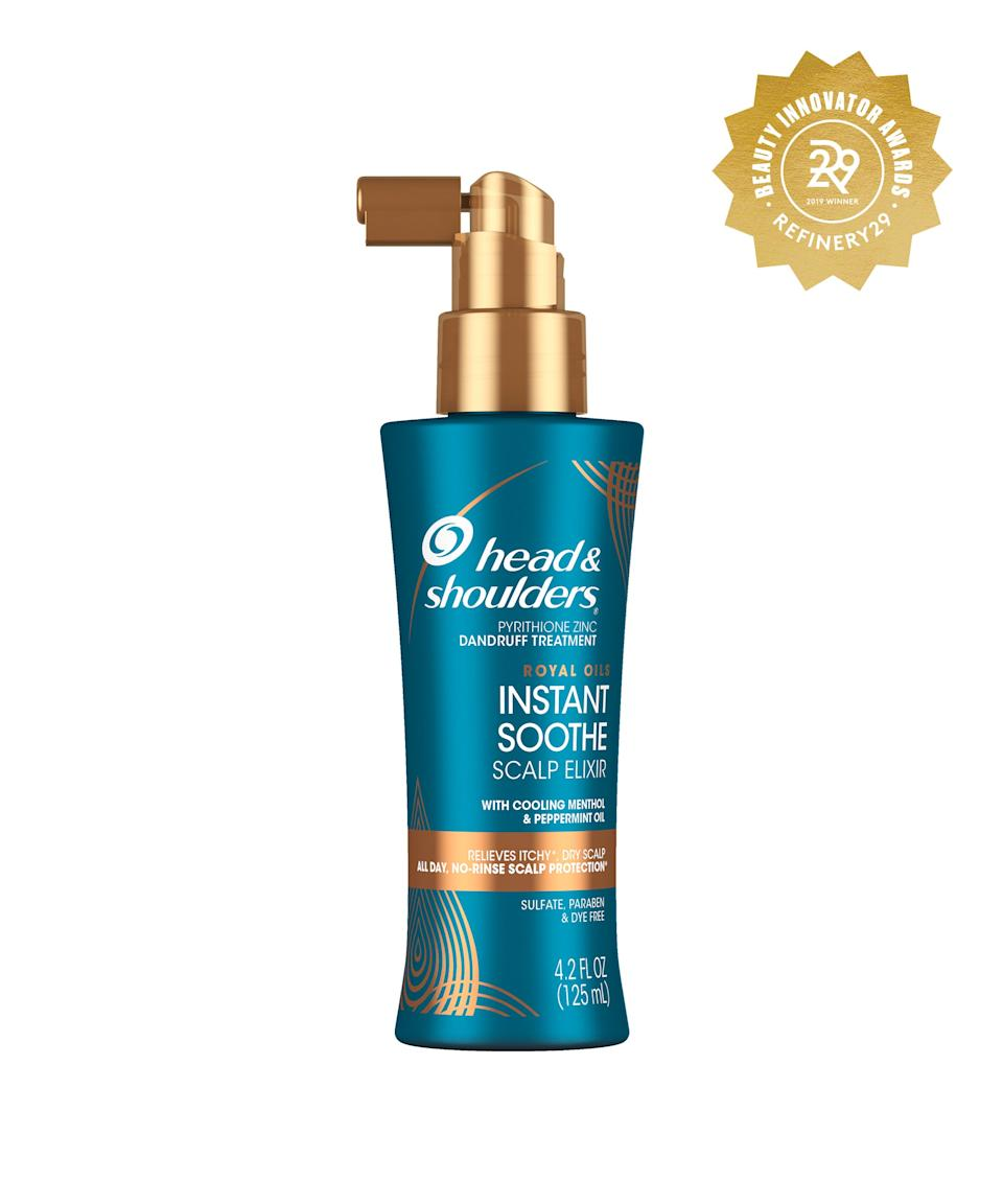 """<h2>Head & Shoulders Royal Oils Instant Soothe Scalp Elixir<br></h2> <br>Whether you're rocking a week-old protective style or just have a sensitive scalp, keep this spray in your collection. When an annoying itch hits, spritz the peppermint and zinc-infused formula for instant relief.<br><br><strong>Head & Shoulders</strong> Head & Shoulders Royal Oils Instant Soothe Scalp Elixir, $, available at <a href=""""https://www.target.com/p/head-shoulders-royal-oils-instant-soothe-scalp-elixir-treatment-with-menthol-peppermint-oil-4-2-fl-oz/-/A-75562756#locklink"""" rel=""""nofollow noopener"""" target=""""_blank"""" data-ylk=""""slk:Target"""" class=""""link rapid-noclick-resp"""">Target</a><br>"""