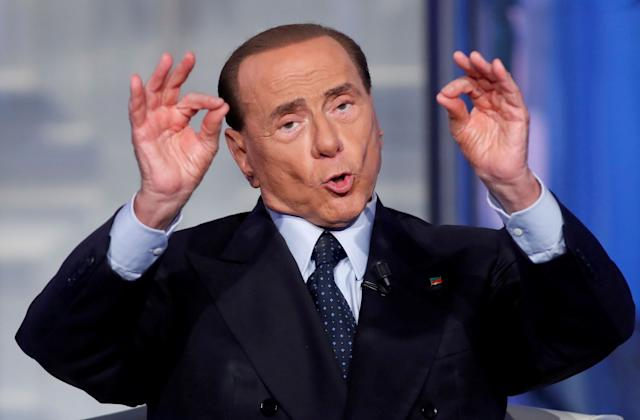 Italy's former Prime Minister Silvio Berlusconi. His Forza Italia party lost support in the election, leaving him in a weakened political position.