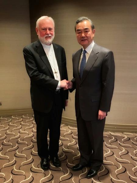 Vatican foreign minister Archbishop Paul Gallagher and Chinese counterpart Wang Yi met in the German city of Munich on Friday