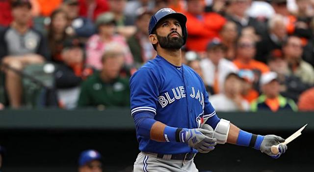 Jose Bautista is off to a slow start, but there's a good chance it won't last long. (Patrick Smith/Getty Images)