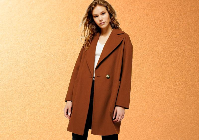 Topshop's Carly Coat makes your weekend jeans and tee look chic. (Photo: Nordstrom)