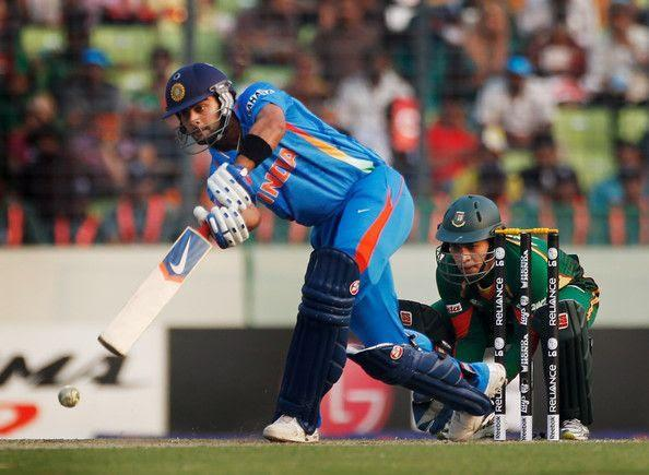 Virat scored his debut World Cup century in the year 2011 against Bangladesh.