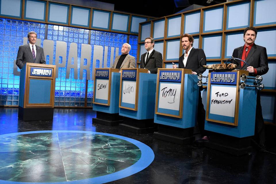 """Will Ferrell as Trebek in a """"Saturday Night Live"""" sketch. (Photo: NBC via Getty Images)"""
