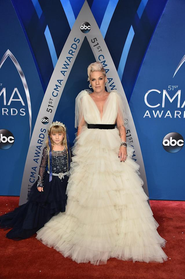 <p>Pink performed at the CMA Awards, but we guess that her favorite thing about the night was having Willow by her side. (Photo: John Shearer/WireImage) </p>
