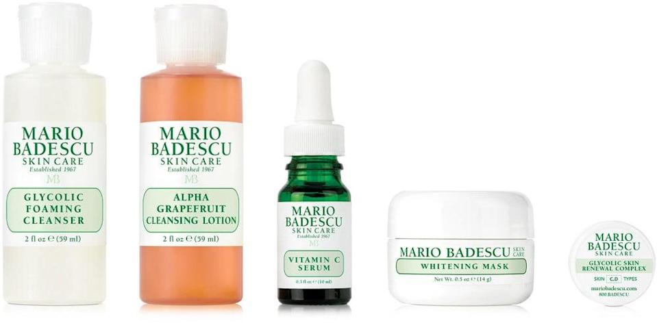 <p>You can't go wrong with gifting this <span>Mario Badescu Brightening Regimen Kit</span> ($38).</p>