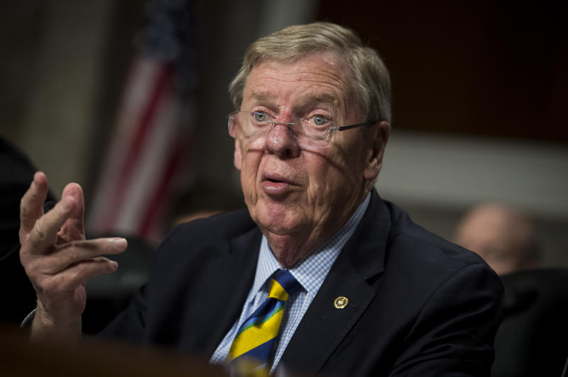 Sen. Johnny Isakson, R-Ga., speaks during a hearing in 2018. (Photo: Sarah Silbiger/CQ Roll Call via Getty Images)