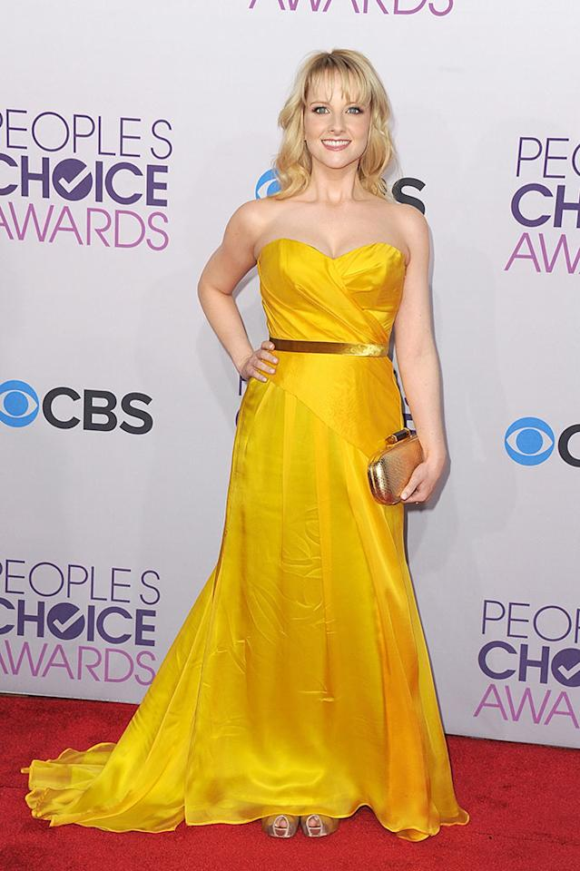 Melissa Rauch attends the 2013 People's Choice Awards at Nokia Theatre L.A. Live on January 9, 2013 in Los Angeles, California.