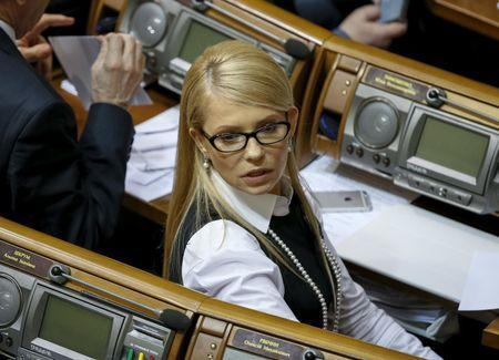Ukrainian former Prime Minister and leader of Batkivshchyna (Fatherland) party Yulia Tymoshenko attends a parliament session in Kiev, Ukraine, February 16, 2016. REUTERS/Gleb Garanich