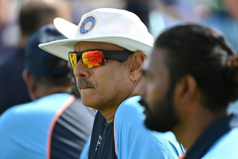 India's head coach Ravi Shastri has already tested positive for Covid and will be absent from the fifth Test at Old Trafford (AFP/Paul ELLIS)