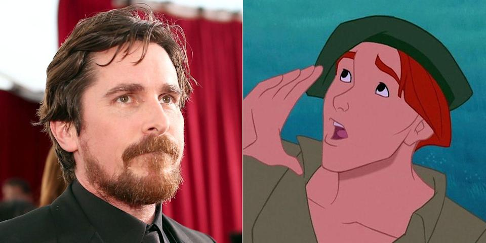 <p>A decade before he first wore a bat suit and stole our hearts doing so, Christian Bale voiced John Smith's sidekick Thomas in the 1995 classic. Another big name you probably didn't realize was in the cast? Mel Gibson, who voiced none other than John Smith.</p>