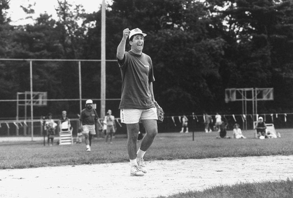 <p>Baldwin at a charity softball game in the Hamptons is every dad—then, now, and forever—playing softball in the middle of the summer. No matter who won the game, this look is a home run from us. </p>