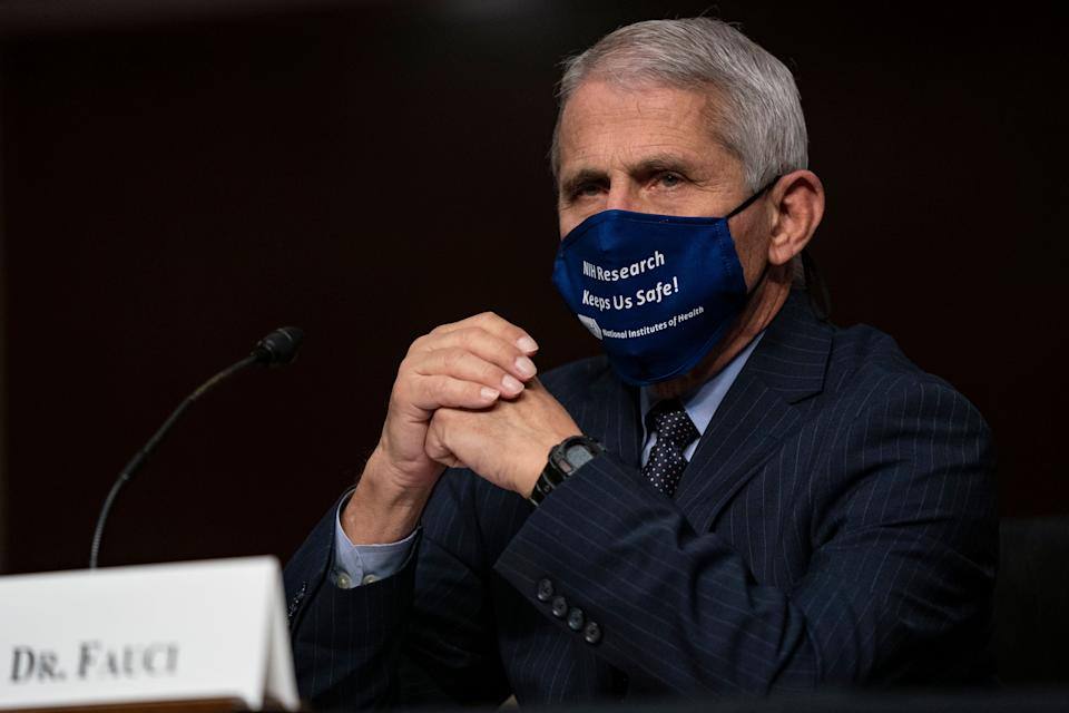 Dr. Anthony Fauci, director of the National Institute of Allergy and Infectious Diseases, is seen testifying on Capitol Hill in September. Fauci said Sunday that a clip of him used in a Trump campaign ad was taken out of context. (Photo: ASSOCIATED PRESS)
