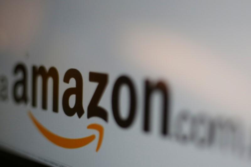 Amazon logo is pictured in Mexico City