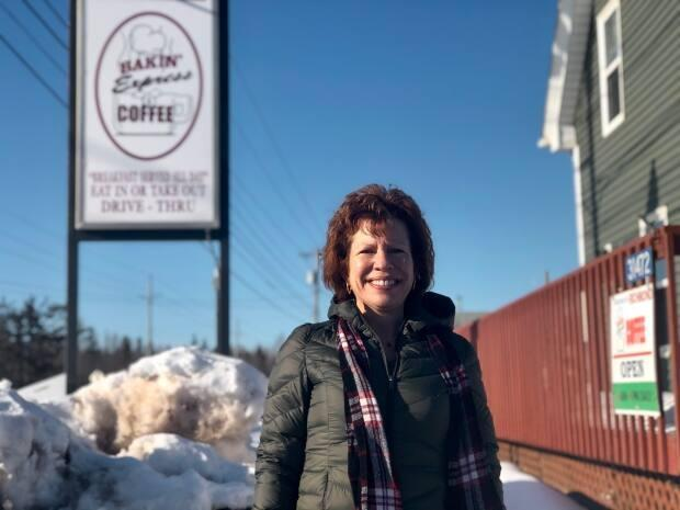 Nancy Heffell has been the manager of the Bakin' Express in Richmond for five years, but has been with Bakin' Donuts for 27 years. (Nicola MacLeod/CBC - image credit)
