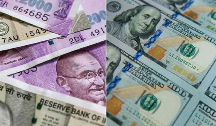Rupee dives to 6-week low as crude spikes above $75/brl; losses 39p vs dollar
