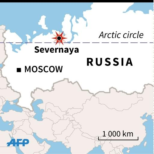 Map locating the Severnaya mine in the Komi region of northern Russia, where dozens of miners died. (AFP Photo/)