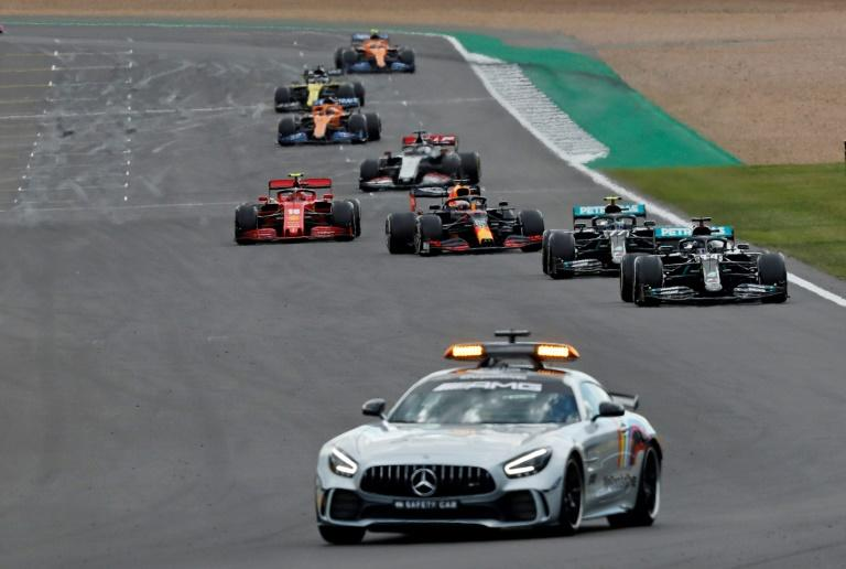 The safety car came out for a second time at Silverstone after Daniil Kvyat crashed