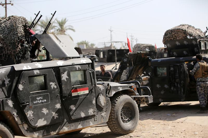 The Iraqi army is still months away from staging a major offensive to retake ground lost to the Islamist State group, US officials say (AFP Photo/Ahmad al-Rubaye)