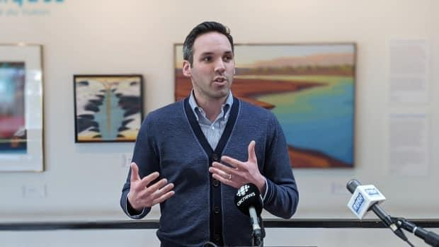 Yukon Party Leader Currie Dixon says Brendan Hanley should step down as chief medical officer of health if he's going to run for partisan office. (Chris Windeyer/CBC - image credit)