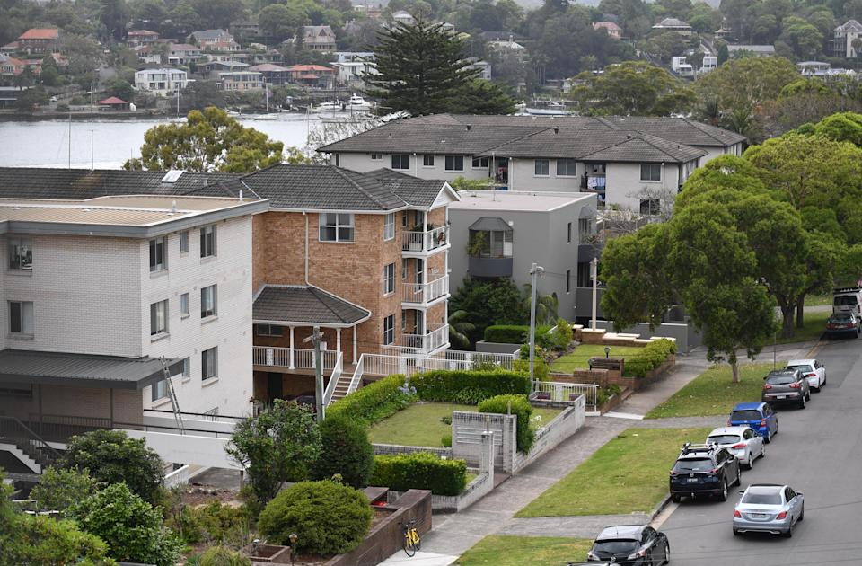 Apartments are seen in inner Sydney, Monday, December 10, 2018. (AAP Image/Mick Tsikas)