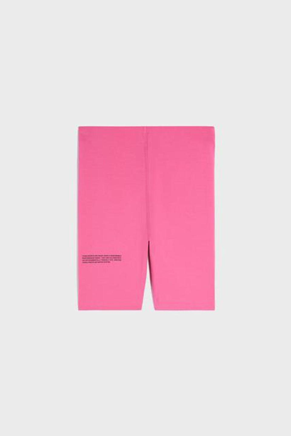 """<p><strong>Pangaia</strong></p><p>thepangaia.com</p><p><strong>$65.00</strong></p><p><a href=""""https://thepangaia.com/collections/move/products/move-biker-shorts-flamingo-pink"""" rel=""""nofollow noopener"""" target=""""_blank"""" data-ylk=""""slk:Shop Now"""" class=""""link rapid-noclick-resp"""">Shop Now</a></p><p>Pangaia designs textile innovations for a better future. These thoughtful wardrobe essentials are produced using bio-based, recycled fibers made from recycled plastic bottles and natural botanical dyes from plants. </p>"""