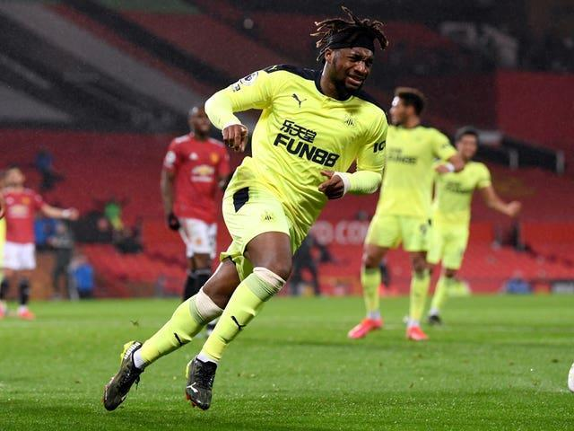 Allan Saint-Maximin scored a superb leveller for Newcastle at Old Trafford