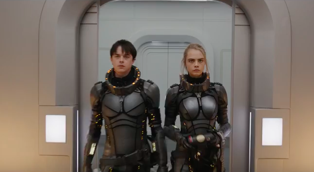 Dane DeHaan and Cara Levingne in 'Valerian' (Photo: Lionsgate)