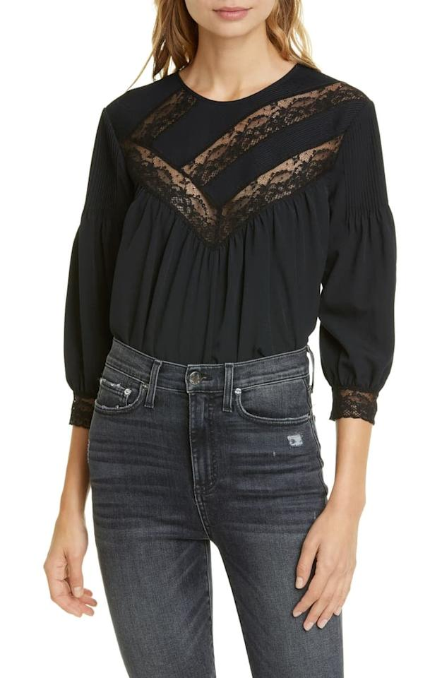 """<p>Lace and eyelet tops have solidified their place in our wardrobe for Spring and Summer - even Fall and Winter with the right warm contrasts. These are the blouses that you can throw on with minimal jewels since they do all the work for you. Their vibe works especially well as a pretty Summer work blouse, but this is a look we love just as much with denim cutoffs as we do under a suit jacket.</p> <p><a href=""""https://www.popsugar.com/buy/Joie-Margette-Blouse-482533?p_name=Joie%20Margette%20Blouse&retailer=shop.nordstrom.com&pid=482533&price=298&evar1=fab%3Aus&evar9=36278178&evar98=https%3A%2F%2Fwww.popsugar.com%2Ffashion%2Fphoto-gallery%2F36278178%2Fimage%2F46522252%2FLace-Top&list1=shopping%2Cfall%20fashion%2Cfall%2Cstyle%20how%20to&prop13=api&pdata=1"""" rel=""""nofollow"""" data-shoppable-link=""""1"""" target=""""_blank"""" class=""""ga-track"""" data-ga-category=""""Related"""" data-ga-label=""""https://shop.nordstrom.com/s/joie-margette-blouse/5381362?origin=keywordsearch-personalizedsort&amp;breadcrumb=Home%2FAll%20Results&amp;color=caviar"""" data-ga-action=""""In-Line Links"""">Joie Margette Blouse</a> ($298)</p>"""