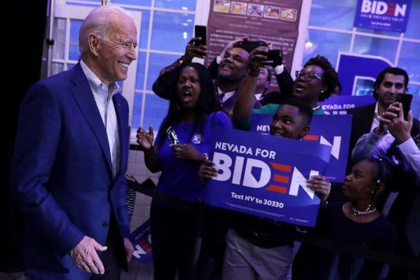 PHOTO: LAS VEGAS, NEVADA - FEBRUARY 18: Former Vice President Joe Biden arrives at an Early Vote Event with Joe Biden and AAPI Victory Fund at Harbor Palace Seafood Restaurant at Chinatown Plaza Mall February 18, 2020 in Las Vegas, Nevada. (Alex Wong/Getty Images)