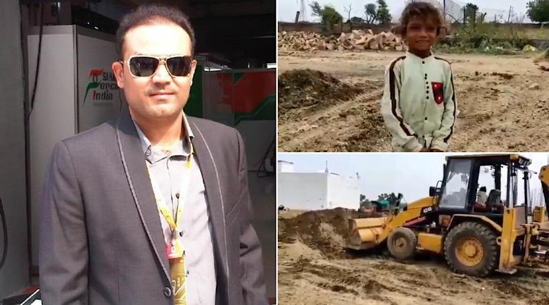 Virender Sehwag Amazed As He Shares Video of Young Child Operating JCB Machine (View Post)