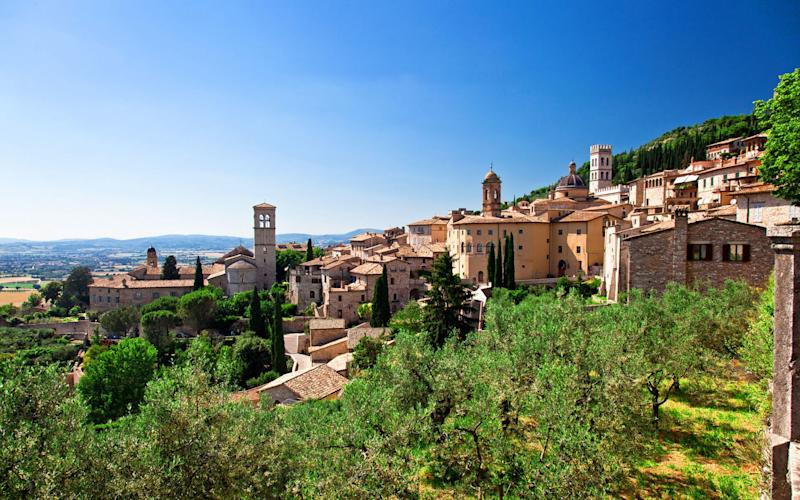 Umbria (pictured) and Tuscany are the most popular Italian regions for a walking holiday - tiero - Fotolia
