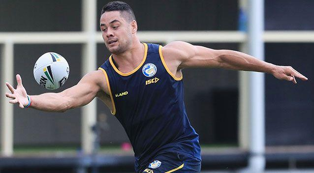 Cross-code star Jarryd Hayne returned to training with the Eels on Wednesday. Source: Getty Images