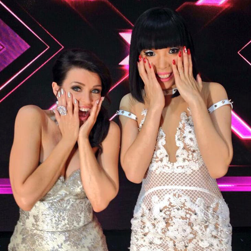 Dannii Minogue and Dami Im on The X Factor.