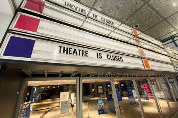 PHOTO: A movie theater owned by Famous Players remains closed due to COVID-19 restrictions in Toronto, Canada, April 6, 2021. (Chris Helgren/Reuters)