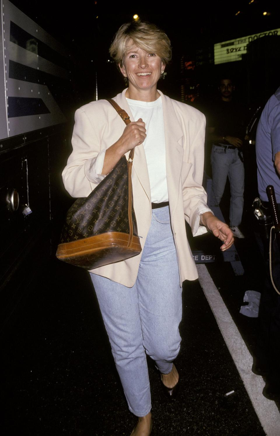 "Stewart at the premiere for ""The Commitments"" in New York City in 1991."