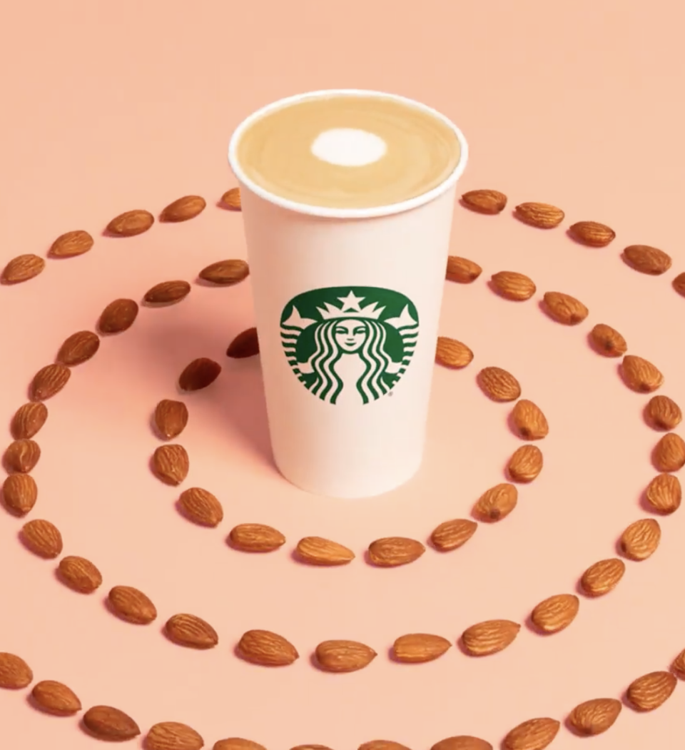 <p>The almond milk and flat white goes great together, but if you're looking to taste honey in every sip this drink falls a liiittle short. Still—soul-warming.</p>