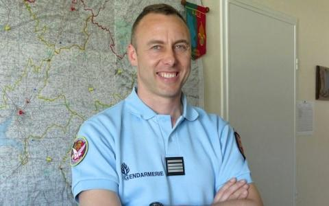 Arnaud Beltrame who was killed after swapping himself for a hostage in a rampage and siege in the town of Trebes, southwestern France - Credit: AFP