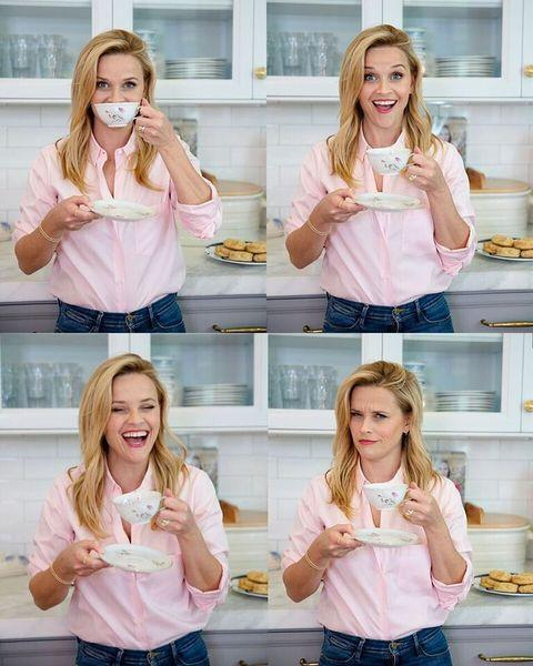 """<p>While Reese loves to indulge, she's also good at eating well most of the time. """"Reese's willpower is pretty amazing,"""" a source told <a href=""""https://www.lifeandstylemag.com/posts/jennifer-aniston-and-reese-witherspoons-diet-and-exercise-regime/"""" rel=""""nofollow noopener"""" target=""""_blank"""" data-ylk=""""slk:Life & Style"""" class=""""link rapid-noclick-resp"""">Life & Style</a>. """"She'll have chicken, salad, maybe grilled fish.""""</p><p><a href=""""https://www.instagram.com/p/BlA35F-nhun/"""" rel=""""nofollow noopener"""" target=""""_blank"""" data-ylk=""""slk:See the original post on Instagram"""" class=""""link rapid-noclick-resp"""">See the original post on Instagram</a></p>"""