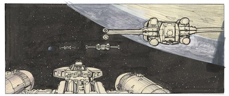 """""""A later iteration of the rebel attack of the Death Star begins."""" -- Joe Johnston"""