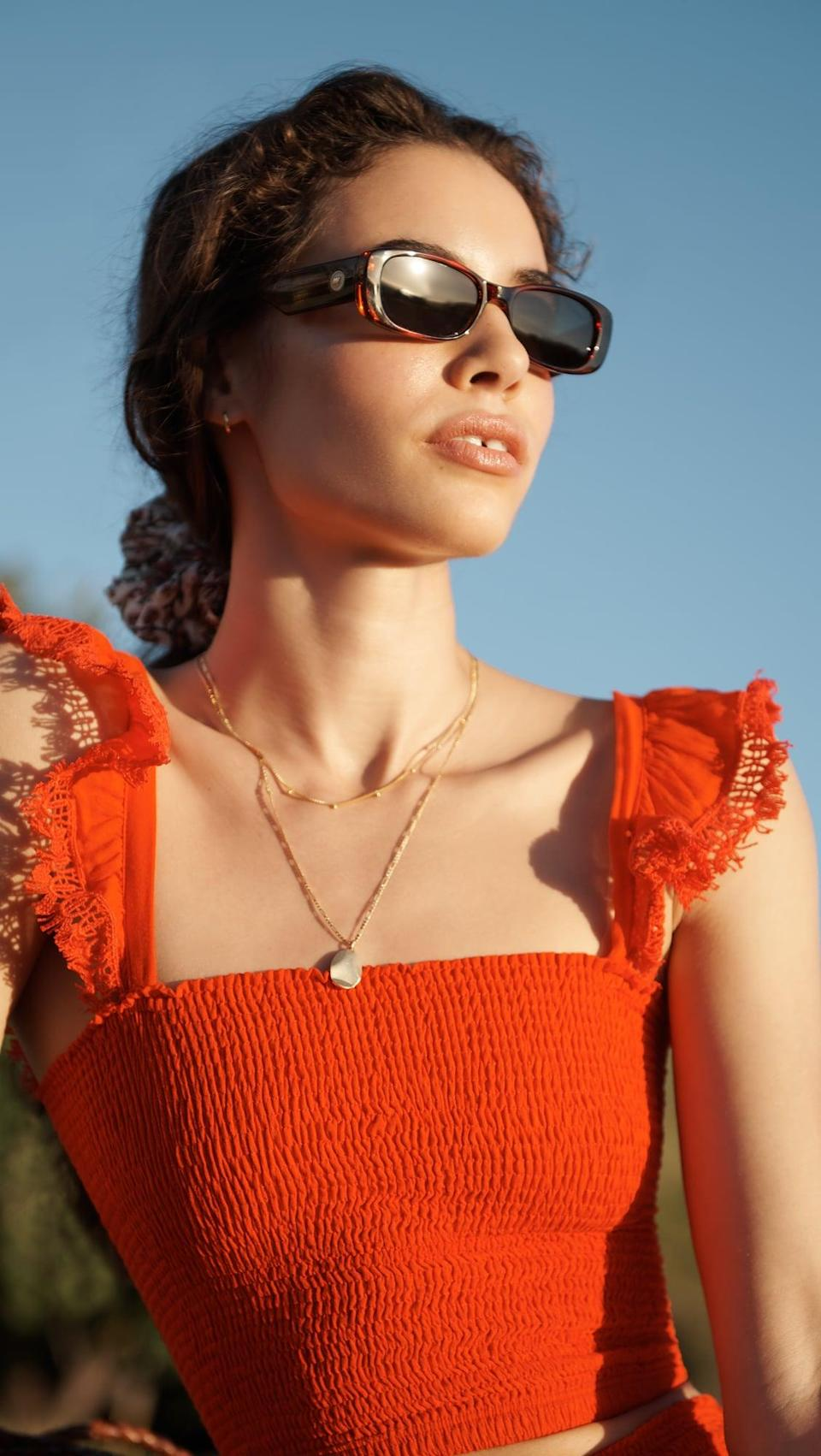 <p>We love the look of these simple, square <span>Le Specs Unreal Sunglasses</span> ($79).</p>