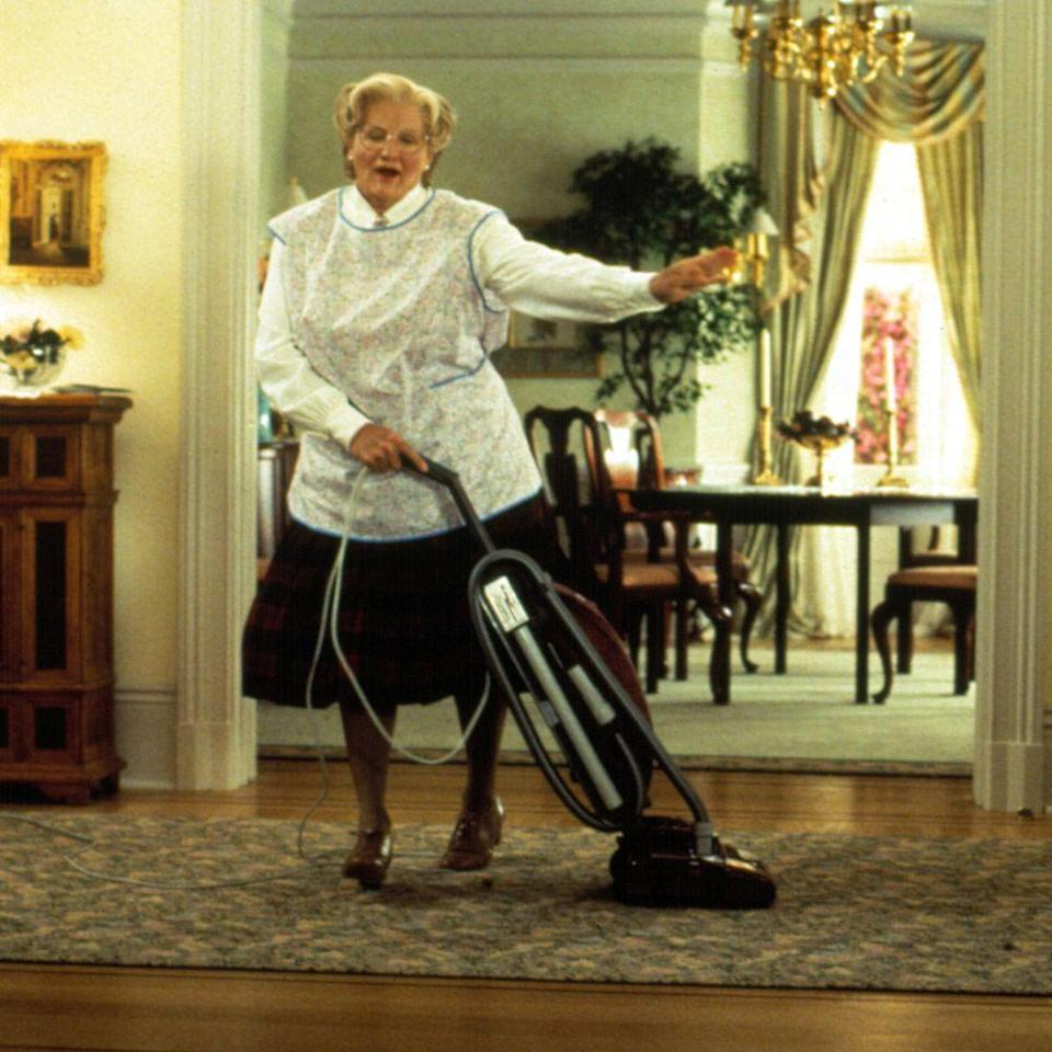 "<p>Here, Robin Williams pulls double duty in one of his most dynamic performances. Daniel Hillard is a divorced father who disguises himself as a British housekeeper to spend more time with his kids. It's an endearing tale about the importance of the family bond, while featuring some truly advanced '90s prosthetic work.</p><p><a class=""link rapid-noclick-resp"" href=""https://go.redirectingat.com?id=74968X1596630&url=https%3A%2F%2Fwww.hulu.com%2Fwatch%2F3bc601f2-eaa5-4368-88b7-6b2b87bb00fa&sref=https%3A%2F%2Fwww.harpersbazaar.com%2Fculture%2Ffilm-tv%2Fg33002202%2Fbest-family-movies%2F"" rel=""nofollow noopener"" target=""_blank"" data-ylk=""slk:Watch Now"">Watch Now</a><br></p>"