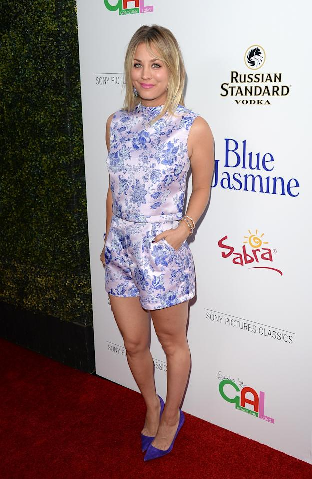 BEVERLY HILLS, CA - JULY 24: Actress Kaley Cuoco arrives at the premiere of 'Blue Jasmine' hosted by AFI & Sony Picture Classics at AMPAS Samuel Goldwyn Theater on July 24, 2013 in Beverly Hills, California. (Photo by Jason Merritt/Getty Images)