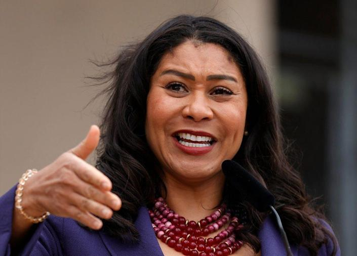 San Francisco Mayor London Breed And Essential Workers Mark One-Year Since Covid Lockdowns In Bay Area