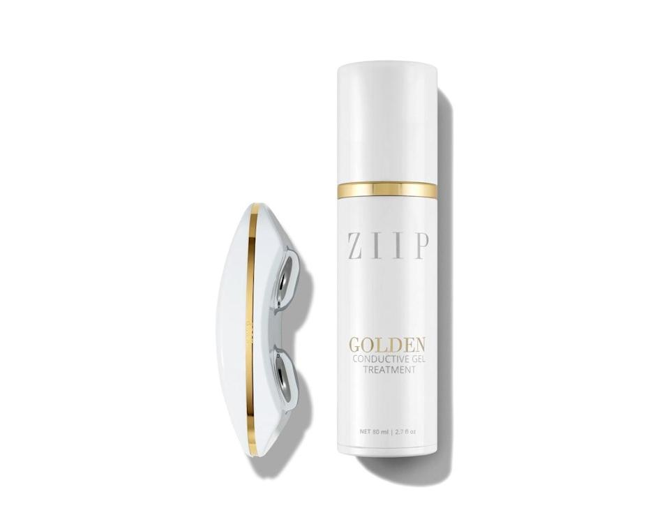 """<h3>ZIIP Nano Current Device</h3> <br>Before you balk at the $500 price tag, you should know that this high-tech tool has delivered the most visible results I've ever seen from a device or product. You should also know that I got this gadget as a gift after getting a treatment from facialist <a href=""""https://www.violetgrey.com/violet-files/woman-made/melanie-simon"""" rel=""""nofollow noopener"""" target=""""_blank"""" data-ylk=""""slk:Melanie Simon"""" class=""""link rapid-noclick-resp"""">Melanie Simon</a> (the brains behind the ZIIP) about a year ago. After the very first treatment, my skin was visibly brighter and clearer so it's been one of my most cherished and most used gadgets of recent date. When paired with the Bluetooth app, you can program the sleek nanocurrent tool to do everything from target breakouts to sculpt facial muscles. If you're in the market for such a luxury smart device and don't want to spend $500, there's also the NuFace device starting at $200 (<a href=""""https://www.skinstore.com/nuface-mini-facial-toning-device/11288881.html"""" rel=""""nofollow noopener"""" target=""""_blank"""" data-ylk=""""slk:Skinstore is currently running a 25% off discount on it"""" class=""""link rapid-noclick-resp"""">Skinstore is currently running a 25% off discount on it</a>). I have used the NuFace as well and simply prefer the ZIIP. I use this device about once a week.<br><br><strong>ZIIP</strong> Nano Current Device, $, available at <a href=""""https://go.skimresources.com/?id=30283X879131&url=https%3A%2F%2Fwww.violetgrey.com%2Fproduct%2Fziip-device-with-80-ml-gel-bottle%2FZIP-Z003"""" rel=""""nofollow noopener"""" target=""""_blank"""" data-ylk=""""slk:Violet Grey"""" class=""""link rapid-noclick-resp"""">Violet Grey</a><br>"""