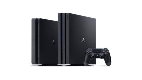 PlayStation 4 Pro (right) with the new standard PS4.