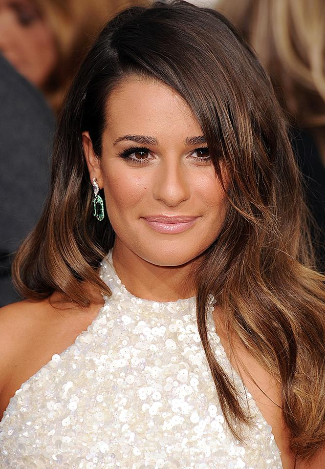 Lea Michele  arrives at the 70th Annual Golden Globe Awards at the Beverly Hilton in Beverly Hills, CA on January 13, 2013.