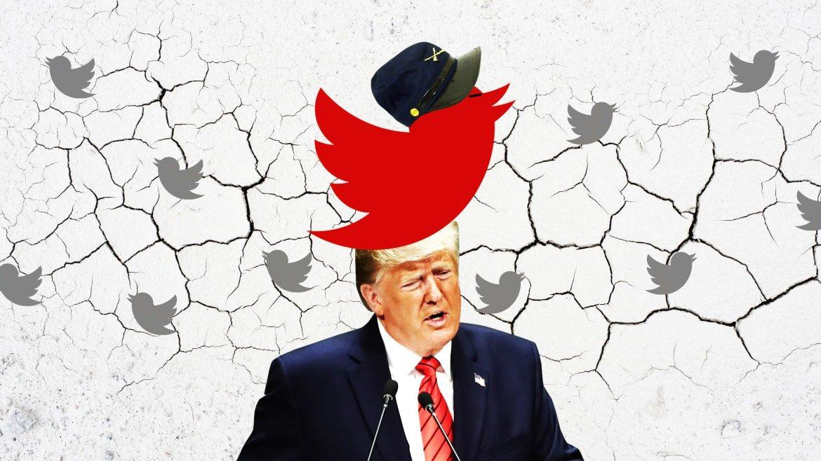 Trump's 'Civil War' Tweet Didn't Come From Nowhere—in Fact, It Came From Here