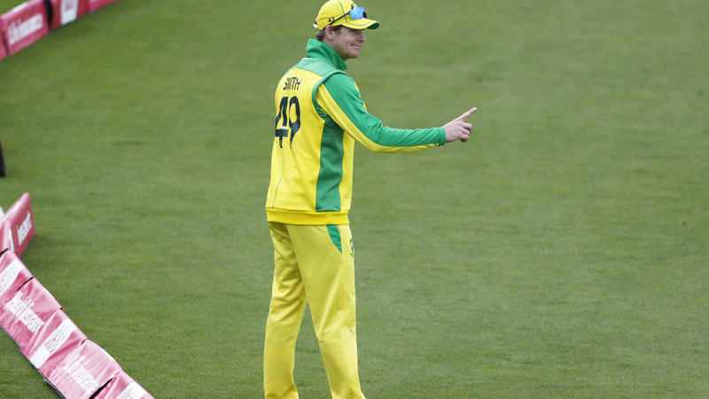 Steve Smith, pictured here in action during the third T20 against England.